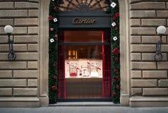 Ventana de tienda de Cartier Imagen de archivo
