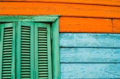 Ventana de tres colores Imágenes de archivo libres de regalías