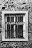 Ventana de un edificio histórico viejo Fotos de archivo