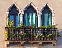 Ventana de Venecia Imagen de archivo libre de regalías