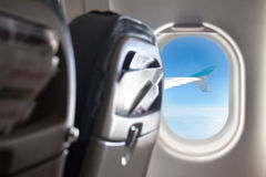 Ventana del aeroplano Fotografía de archivo libre de regalías