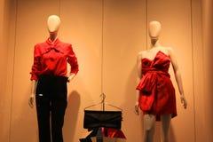 Ventana del boutique Foto de archivo libre de regalías