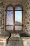 Ventana del castillo Foto de archivo libre de regalías