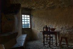 Ventana del castillo en cocina Fotos de archivo