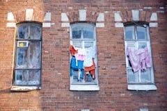 Ventana del dormitorio Imagen de archivo