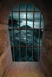 Ventana del Dungeon Fotos de archivo