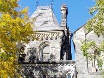 Ventana 2015 del edificio principal de la universidad de Toronto Imagen de archivo libre de regalías
