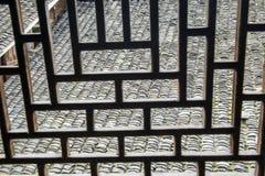 Ventana del estilo chino de la silueta Imagen de archivo libre de regalías