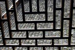 Ventana del estilo chino de la silueta Foto de archivo libre de regalías