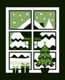 Ventana del invierno Fotos de archivo libres de regalías