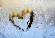 Ventana del invierno Foto de archivo libre de regalías