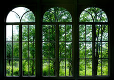Ventana del jardín Foto de archivo libre de regalías