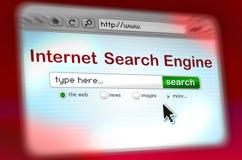 Ventana del motor de la búsqueda rápida Fotografía de archivo libre de regalías