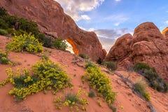 Ventana del norte, arcos parque nacional, Utah Foto de archivo libre de regalías