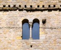 Ventana del Romanesque Imagen de archivo