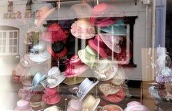 Ventana del sombrerero Imagen de archivo libre de regalías