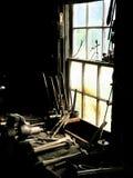 Ventana del taller en bretón del cabo Fotografía de archivo