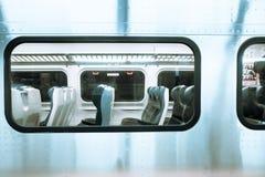 Ventana del tren Imagenes de archivo