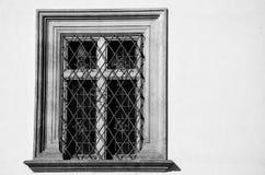 Ventana en blanco y negro, Praga fotografía de archivo libre de regalías