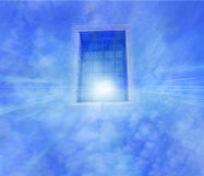 Ventana en el cielo con las nubes Fotos de archivo