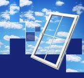 Ventana en el cielo hermoso libre illustration
