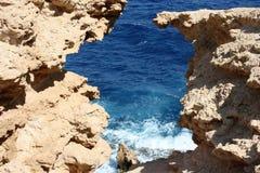 Ventana en el Mar Rojo fotografía de archivo libre de regalías