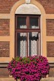 Ventana en Kraków fotografía de archivo