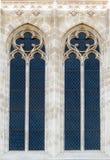 Ventana en la catedral de Zagreb foto de archivo