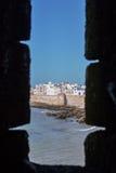 Ventana en la fortaleza Fotos de archivo