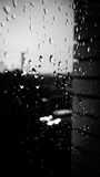 Ventana en la lluvia Foto de archivo