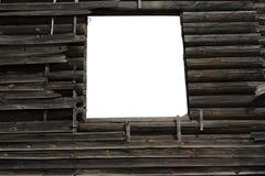 Ventana en la pared de madera vieja Imagen de archivo