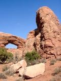 Ventana en la roca fotos de archivo