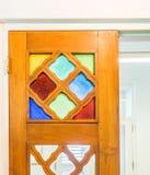 Ventana en las viejas opiniones de Punda Curaçao de los edificios Imagen de archivo