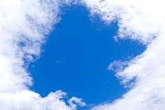 Ventana en nubes Imagen de archivo