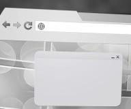 Ventana en web browser ilustración del vector