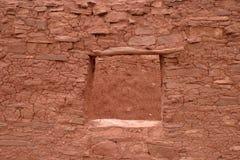 Ventana estable, Abo Pueblo, New México Imagen de archivo libre de regalías