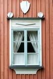 Ventana finlandesa típica Imágenes de archivo libres de regalías