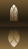 Ventana gótica con las espinas libre illustration