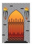 Ventana gótica forjada del hierro Fotografía de archivo libre de regalías