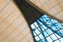 Ventana geométrica en techo Foto de archivo libre de regalías
