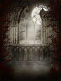 Ventana gótica con las espinas Fotografía de archivo libre de regalías
