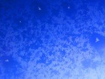 Ventana helada del aeroplano Imagenes de archivo