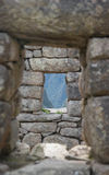Ventana Incan Foto de archivo libre de regalías
