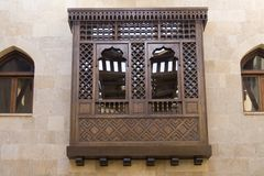Ventana islámica árabe del estilo (Mashrabeya) Foto de archivo libre de regalías