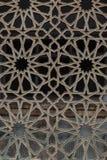 Ventana islámica árabe del fondo del modelo de la mezquita Foto de archivo libre de regalías