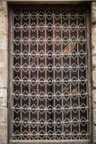 Ventana islámica árabe del fondo del modelo de la mezquita en Egipto Fotos de archivo libres de regalías