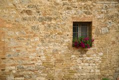 Ventana italiana Fotografía de archivo