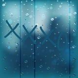 Ventana lluviosa XXXO Imagen de archivo libre de regalías