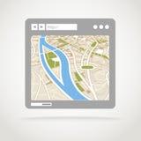 Ventana moderna del web browser ilustración del vector
