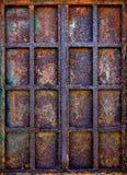Ventana oxidada del hierro Imagenes de archivo